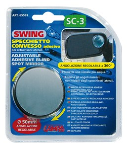 ADJUSTABLE ADHESIVE CONVEX MIRROR, Universal