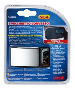 CONVEX MIRROR W/ICE ALERT THERMOM., Universal
