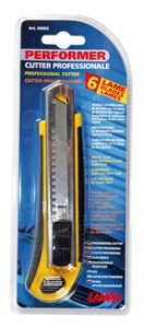 UTILITY KNIFE WITH 6 EXTRA BLADES, Universal