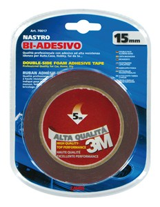 DOUBLESIDED FOAM ADHESIVE TAPE 5MTRS X 15MM, Universal