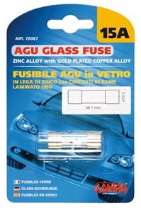 AGU GLASS FUSE 15AMP., Universal