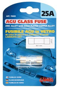 AGU GLASS FUSE 25AMP., Universal