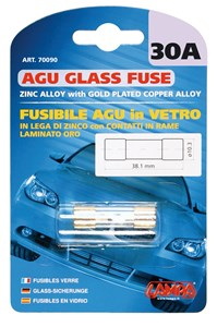 AGU GLASS FUSE 30AMP., Universal
