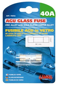 Bildel: AGU GLASS FUSE 40AMP., Universal