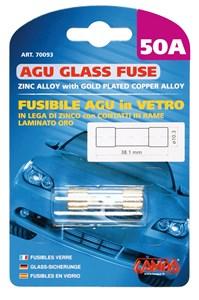 AGU GLASS FUSE 50AMP., Universal