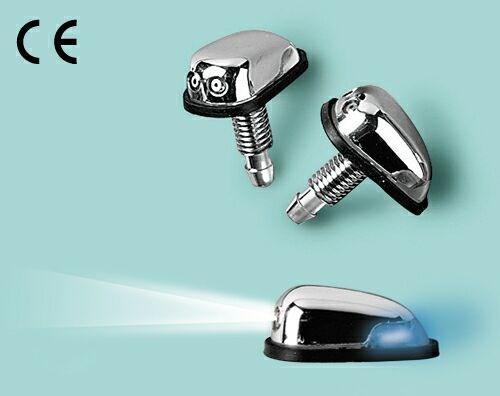 Washer nozzle with led universal skruvat