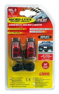 RED MICRO-LIGHTS, SMALL SIZE, Universal