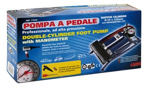 DOUBLE FOOT PUMP W/270øGAUGE GS-TUV, Universal