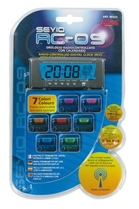 """SEYIO RC-9"" DIGITAL CLOCK(RCC)+CALENDAR/THERMO., Universal"