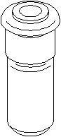 Bøssing, fjæropphengning, Innvendig, Bak, høyre eller venstre