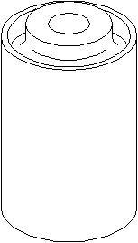 Lagring, bærebru, Ytre, Foran, høyre eller venstre, Nede