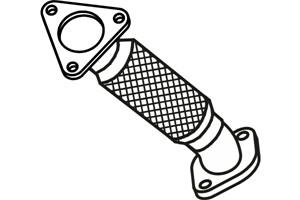 Flexrör, avgassystem, Edessä