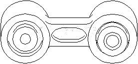 Stang, stabilisator, bakaksel begge sider