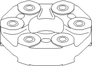 Joint, propeller shaft, Front, Rear, Front propshaft at transfer case, Rear propshaft at transfer case