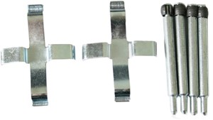 Accessory Kit, disc brake pads, Front axle, Rear, Rear axle