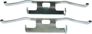 Accessory Kit, disc brake pads, Front, Rear, Rear axle