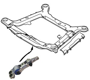 Engine mount, Polyurethane, Lower