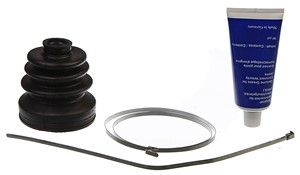 Boot Kit, drive shaft, Front axle, Transmission side, Wheel side, Front axle left