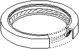 Radial Oil Seal, crankshaft, Inner, Transmission side
