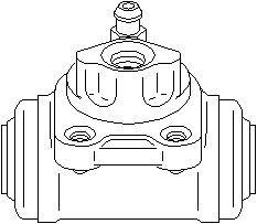 Jarrusylinteri, Taakse, oikea tai vasen puoli