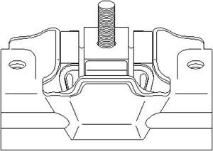 Lagring, girmekanisme, Foran, Nedre venstre