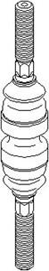 Aksialledd, parallellstang, Framaksel, Innvendig, Foran, høyre eller venstre