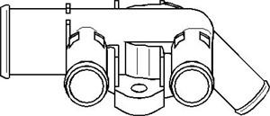 Kjølevæskeflens, Sylinderhode