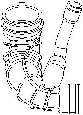 Hose, air supply, Outlet, Air filter housing