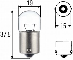 Bulb, indicator, Front, Rear, Front or rear