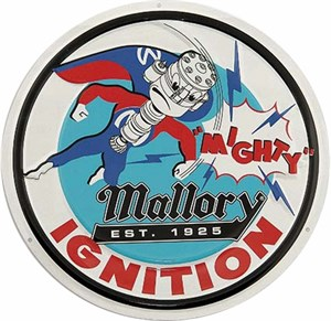 Mallory plåtskylt, Universal