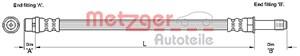 Reservdel:Mercedes Sprinter Bromsslang, Bak, Höger, Vänster, På bromsok