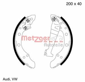 Reservdel:Audi 80 Bromsbackar, sats, Bak, Fram