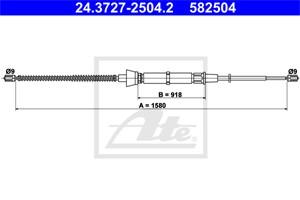 Cable, park brake, Rear