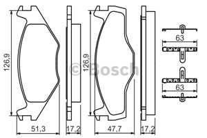 Brake Pad Set, disc brake, Front axle
