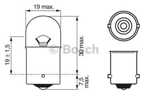 Bulb, indicator, Rear