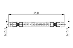 Bremseslange, Bag, På indersiden, Ved bremsekaliper, Ved hovedcylinder