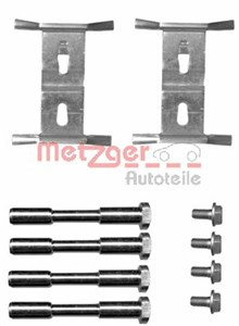 Accessory Kit, disc brake pads, Front, Front axle, Rear axle