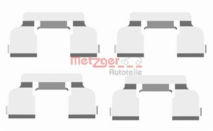 Accessory Kit, disc brake pads, Front