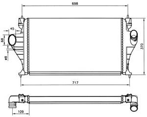 Reservdel:Citroen Xm Intercooler