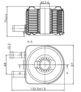 Reservdel:Citroen C8 Oljekylare, motor