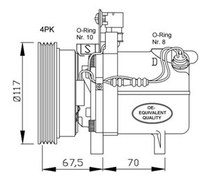 Kompressor, klimatanläggning