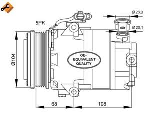 Reservdel:Opel Zafira Kompressor, klimatanläggning