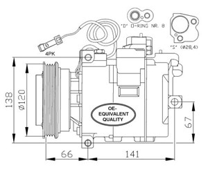 Kompressor Klimaanlegg P59602 on volvo 850 ac wiring diagram