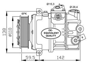 varaosat:Volkswagen Tiguan Kompressori, ilmastointilaite
