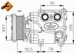 Reservdel:Ford Fusion Kompressor, klimatanläggning