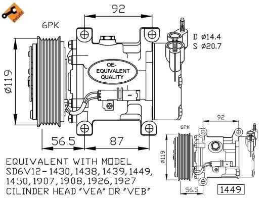 compressor  air conditioner - peugeot fiat citro u00cbn