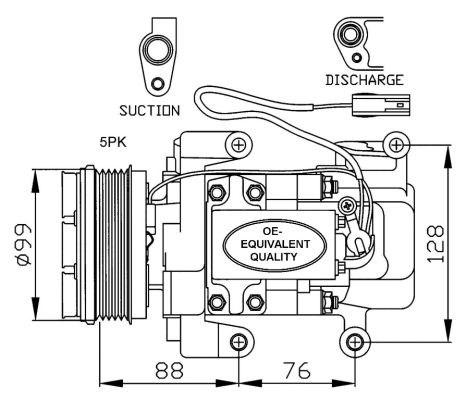 Compressor Air Conditioner P62185