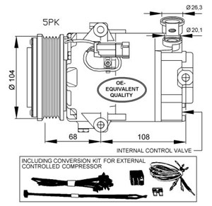 nrf32429_0 air conditioner, ac compressor, condenser, pressure senders, hose vauxhall astra air conditioning wiring diagram at gsmportal.co