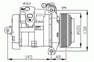 Reservdel:Bmw X5 Kompressor, klimatanläggning