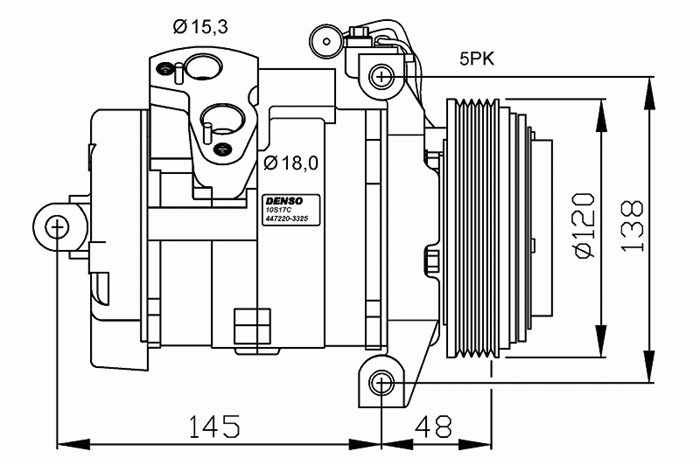 compressor  air conditioner - bmw x5  e53
